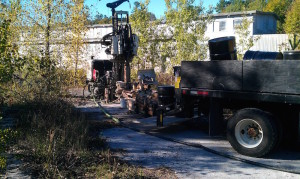 Sonic drilling at Brownfields site