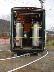 Liquid teatment system at former bulk oil facility